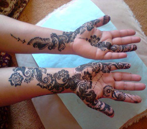 full arm henna artist