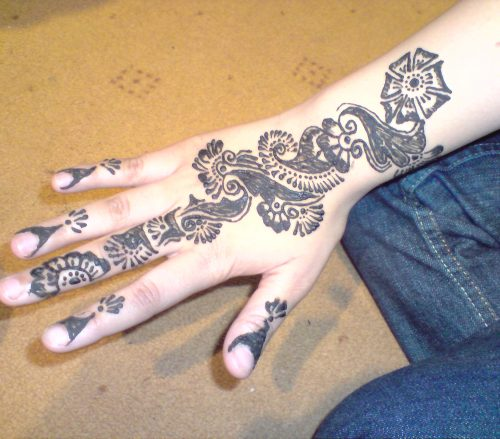Mehndi on Arm