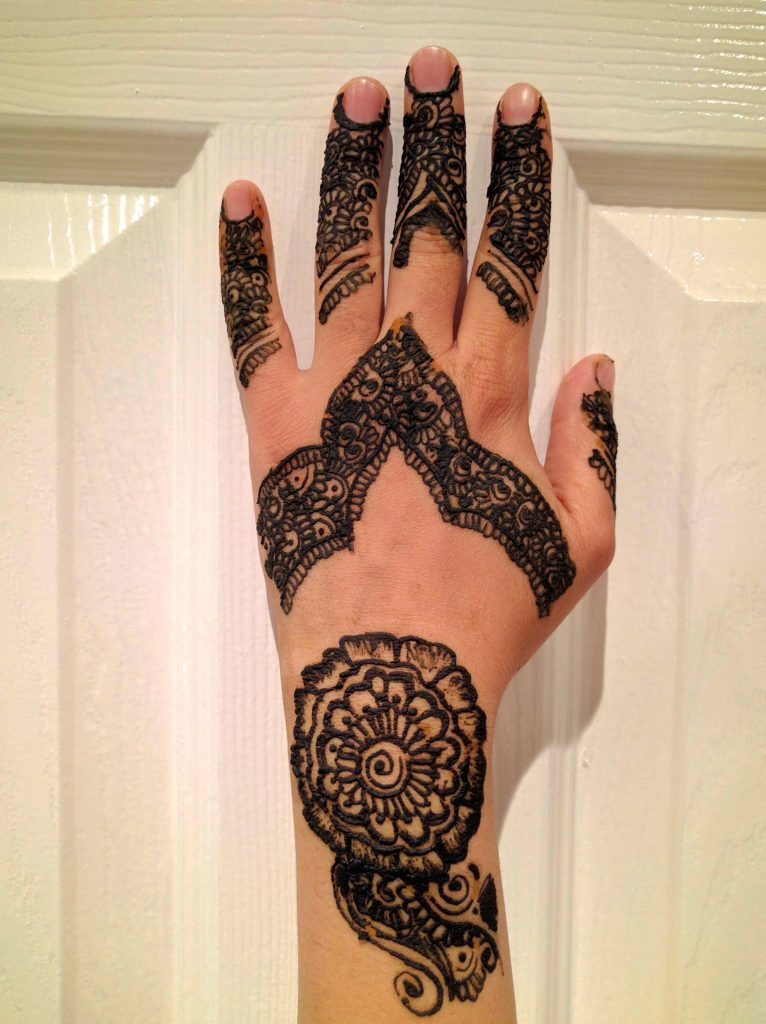 The Triangle Henna flower