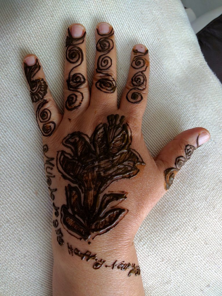 Happy New year Henna Pattern