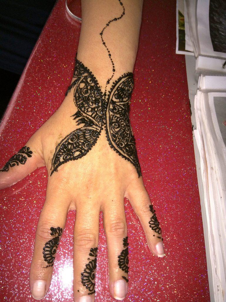 Columbine Henna Design
