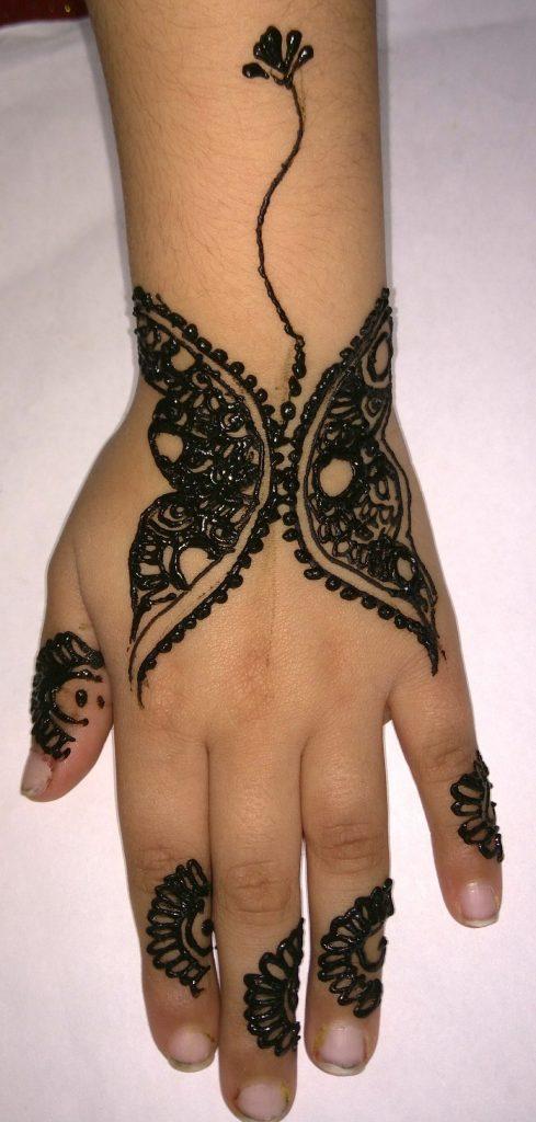 Flame tip Henna Design